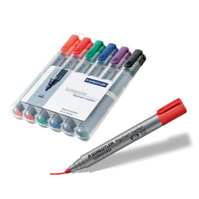 Staedtler Lumocolour Flipchart Marker - Set of 6