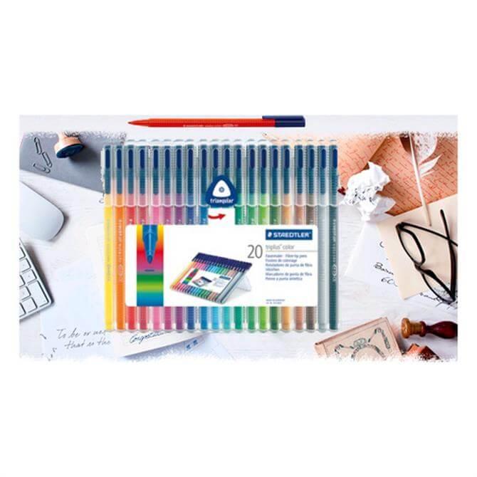 Staedtler Triplus Colour Fibre Tip Pens - 20 Pack