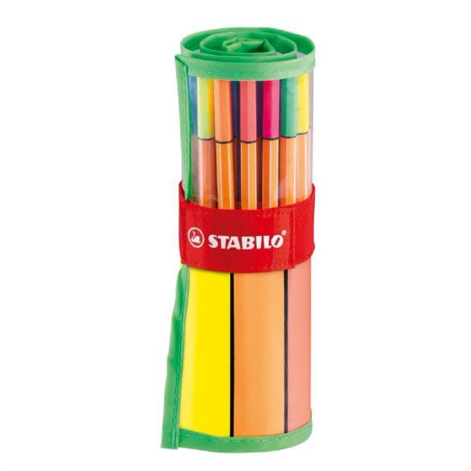 Stabilo Point 88 Rollerset of 30 Colours Including 5 Neon