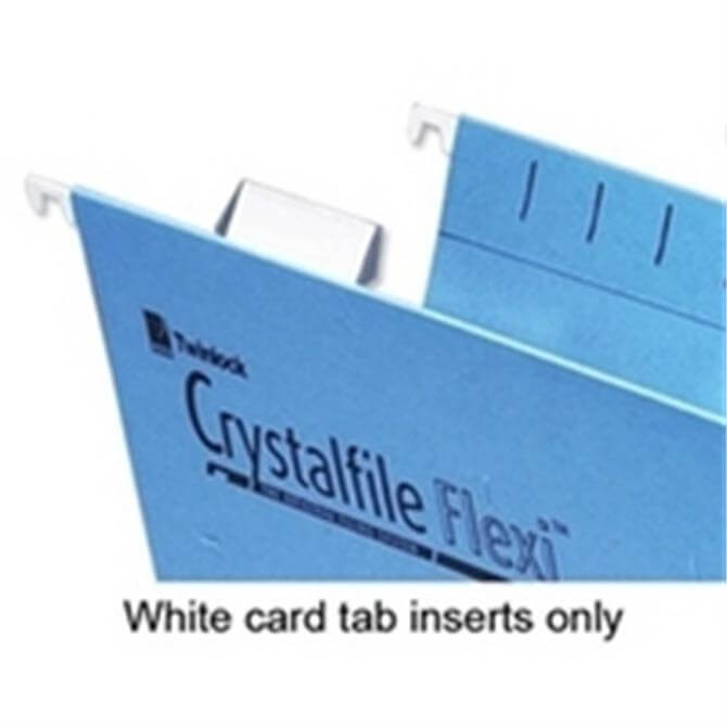 Crystal Flexi Tabs Inserts White