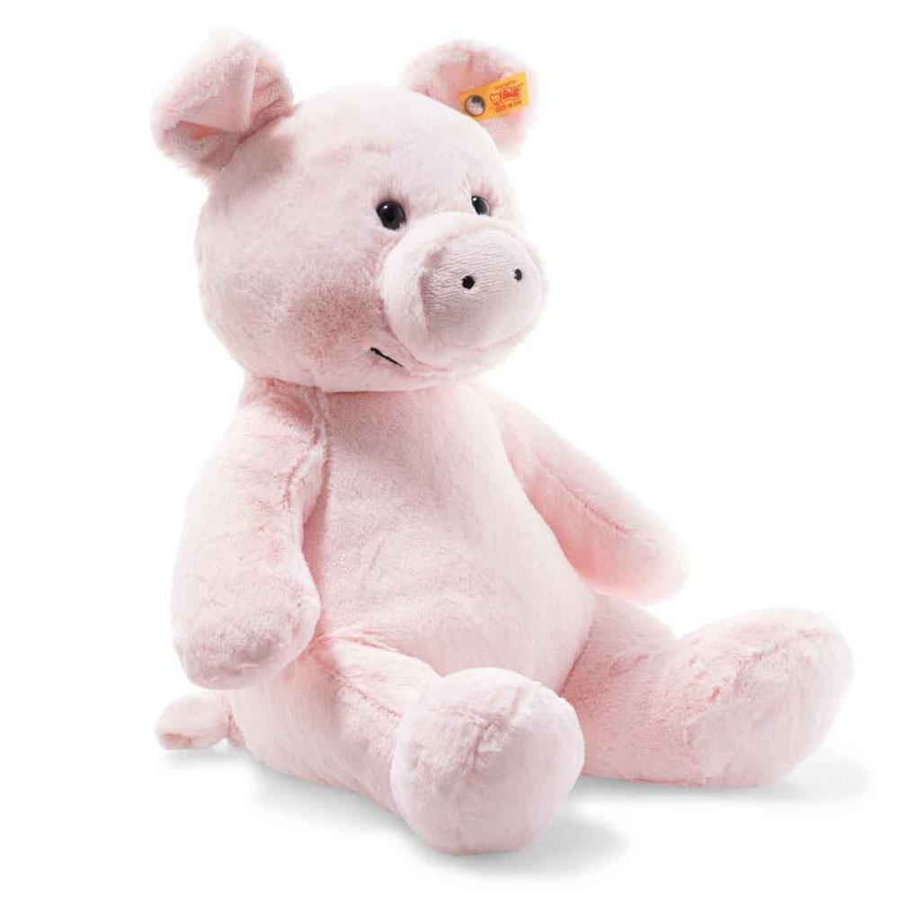An image of Steiff Soft Oggie Pig 38cm - PINK