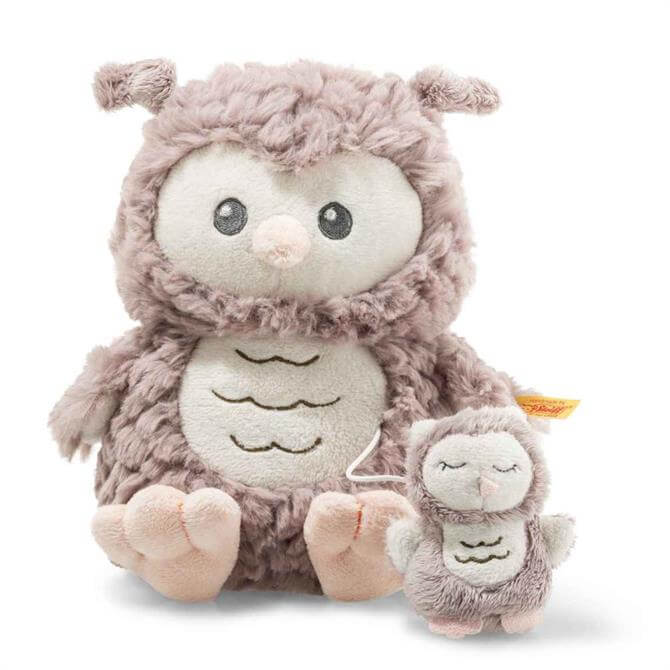 Steiff Soft Cuddly Friends Ollie Owl Music Box