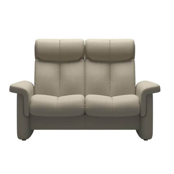 Stressless Legend High Back Two Seater In Paloma Light Grey