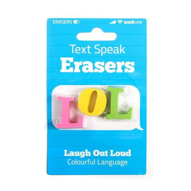 SUCK Text Speak LOL Eraser