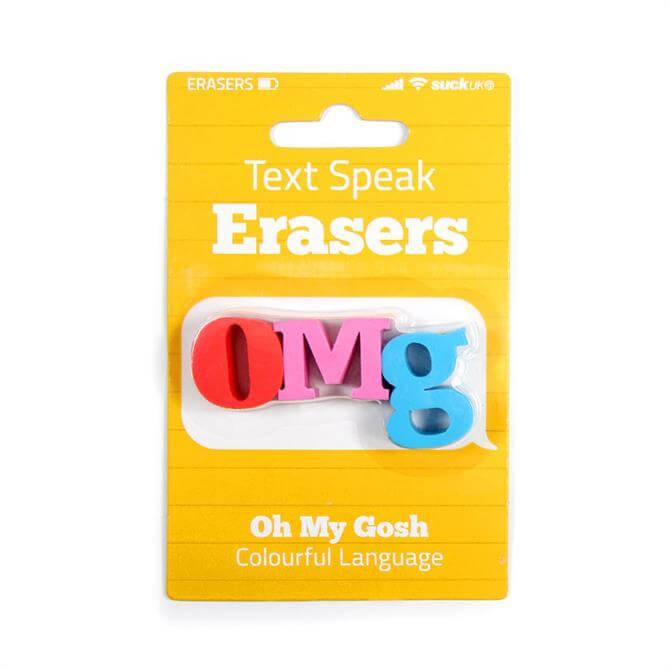 SUCK Text Speak OMG Eraser