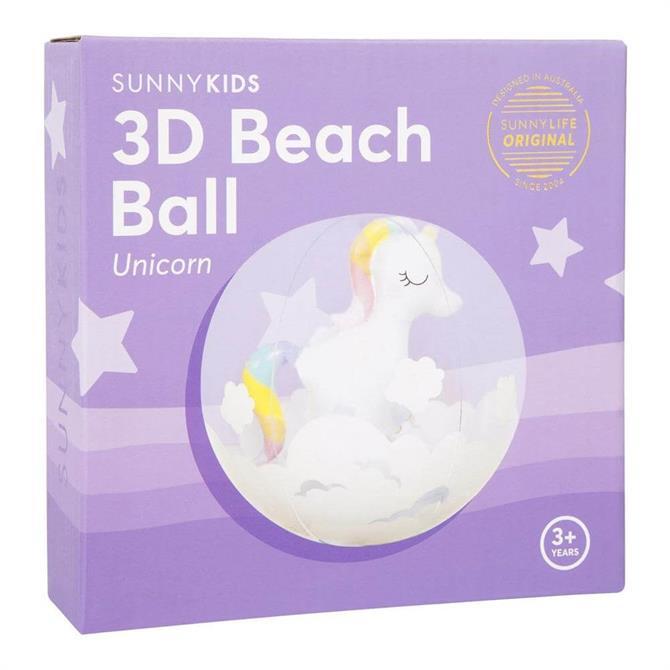 Sunnylife 3D Unicorn Inflatable Beach Ball