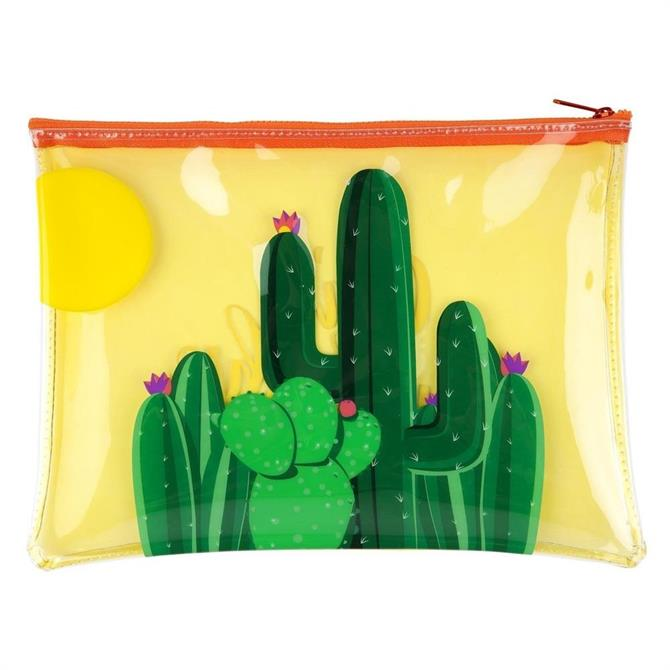 Sunnylife Cactus See Thru Pouch