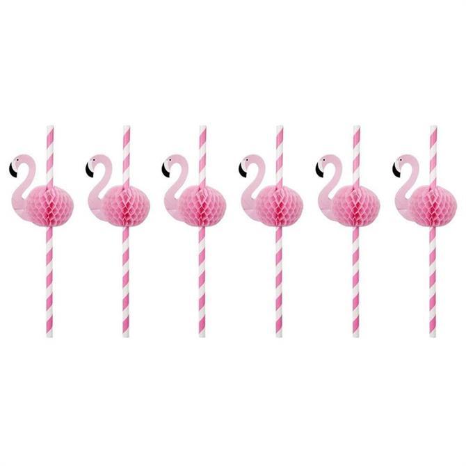 Sunnylife Flamingo Honeycomb Straws
