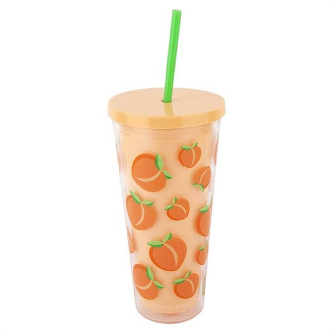 Sunnylife Peach Tumbler
