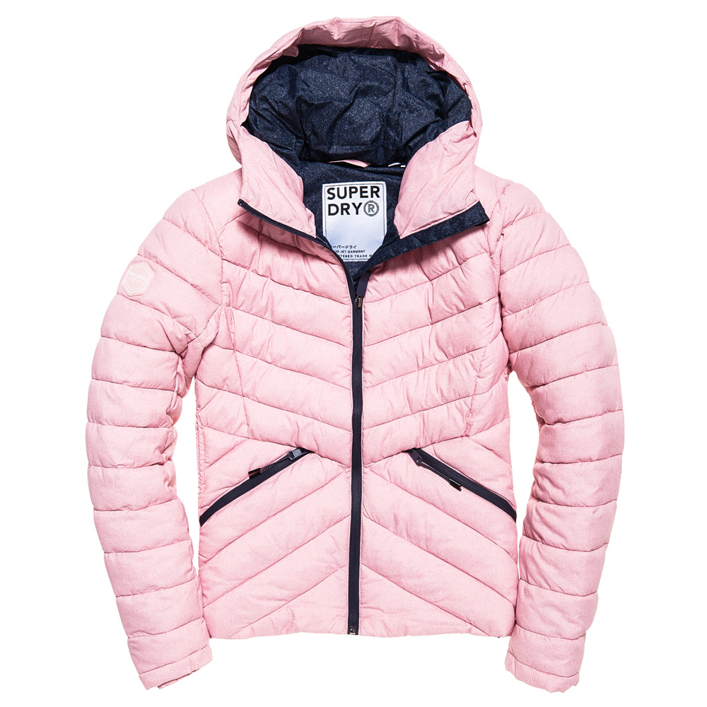 An image of Superdry Eclipse Hooded Fuji Jacket - 12R, PINK MARL