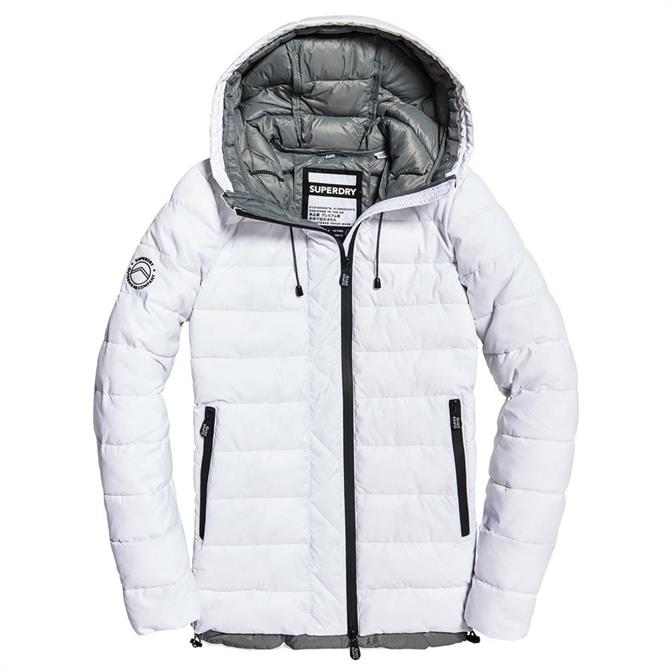 Superdry Eclipse Hooded Fuji White Jacket