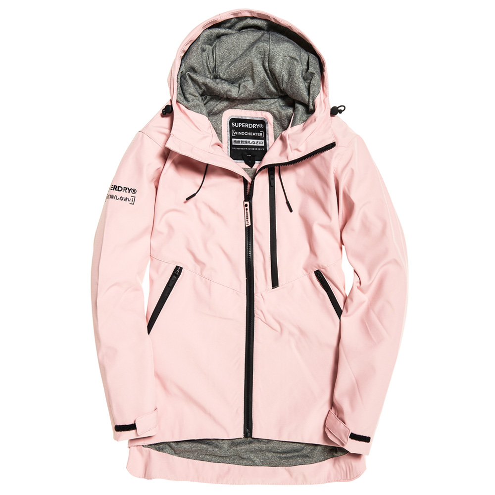 An image of Superdry Eclipse SD-Windcheater Jacket - 12R, POWDER PINK