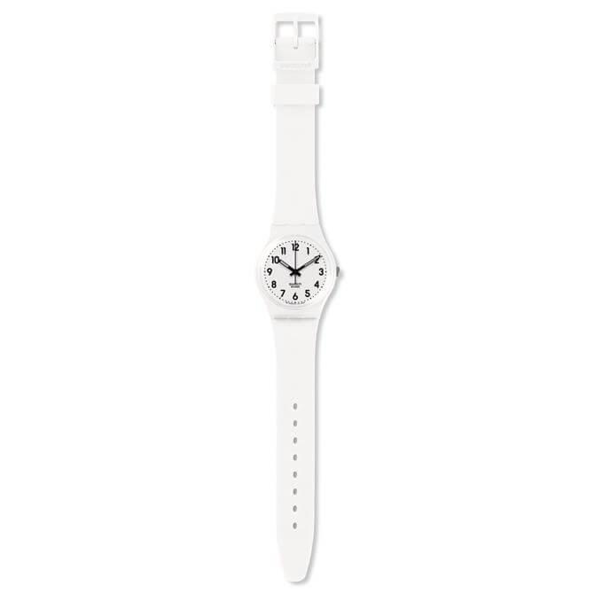 Swatch Just White Soft Watch