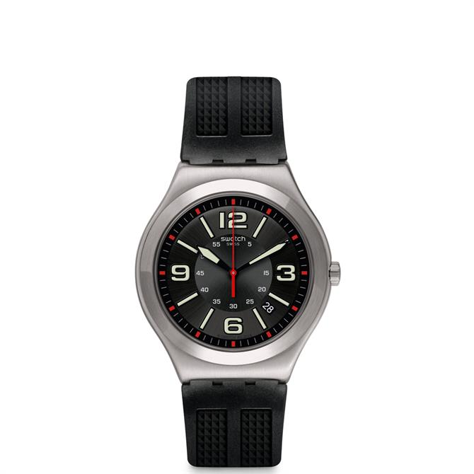 Swatch Black Grid Watch