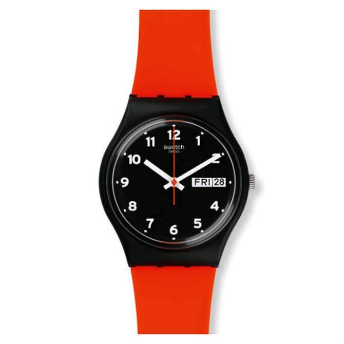 Swatch Red Grin Unisex Watch