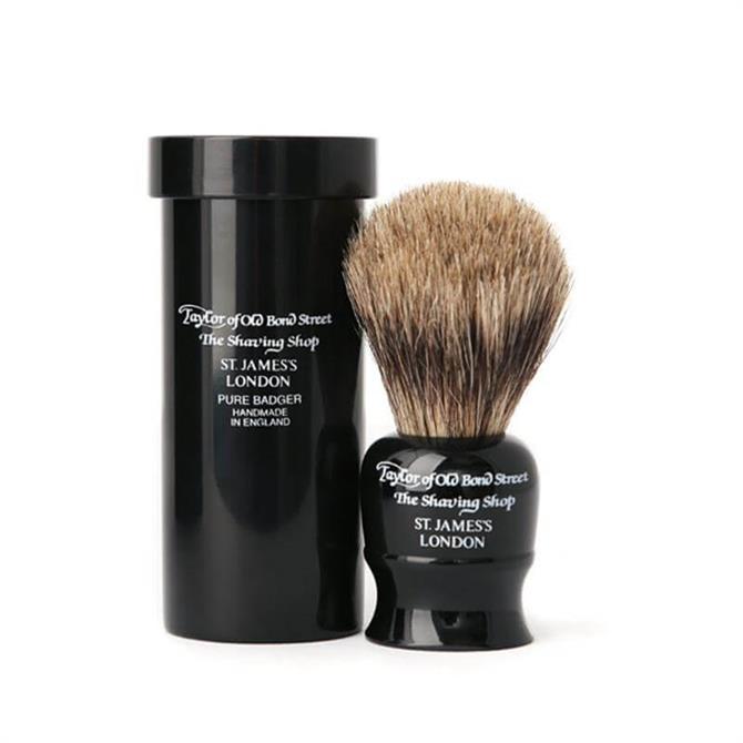 Taylors Pure Badger Travel Brush Black