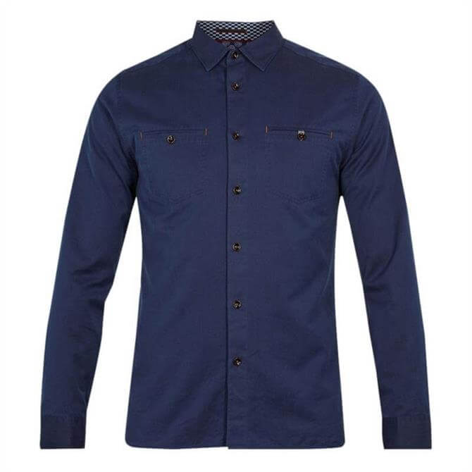 Ted Baker DENRAY Long Sleeved Denim Shirt