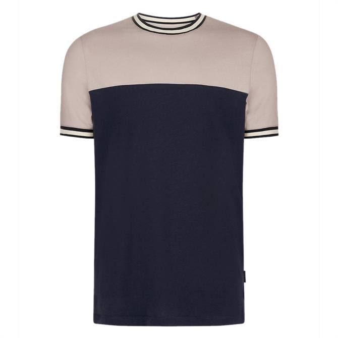 Ted Baker SILVA Panelled Cotton T-Shirt