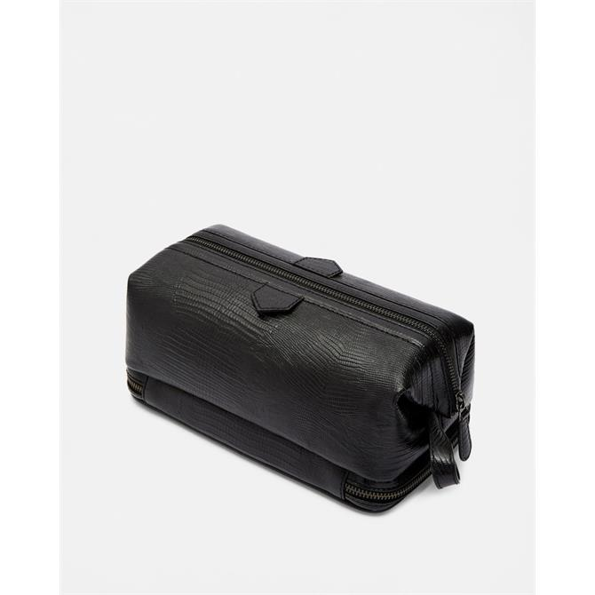 Ted Baker Men's BUBLAY Leather Lizard Texture Washbag