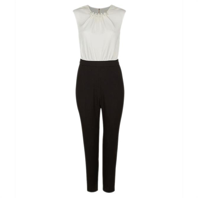 Ted Baker ROZIEE Pearl Neck Detail Jumpsuit