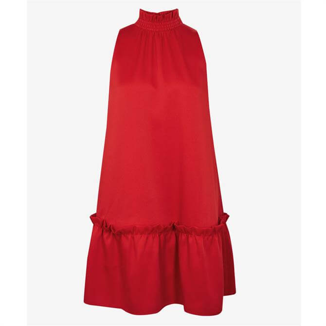Ted Baker LYNZEY Ruffle Detail High Neck Dress