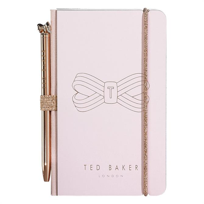 Ted Baker Pink Bow Mini Notebook & Pen