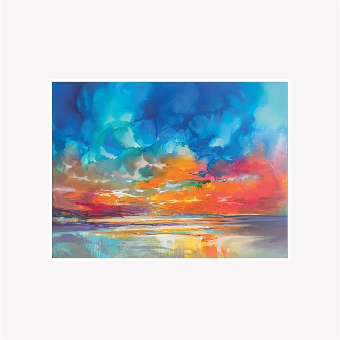 Scott Naismith Onich Orange Framed Canvas Print