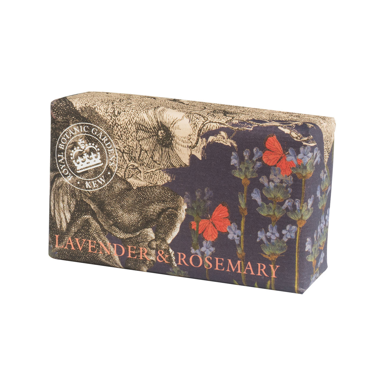 An image of The English Soap Company- Royal Kew Gardens Luxury Soap Range 240g - LAVENDER&RO...