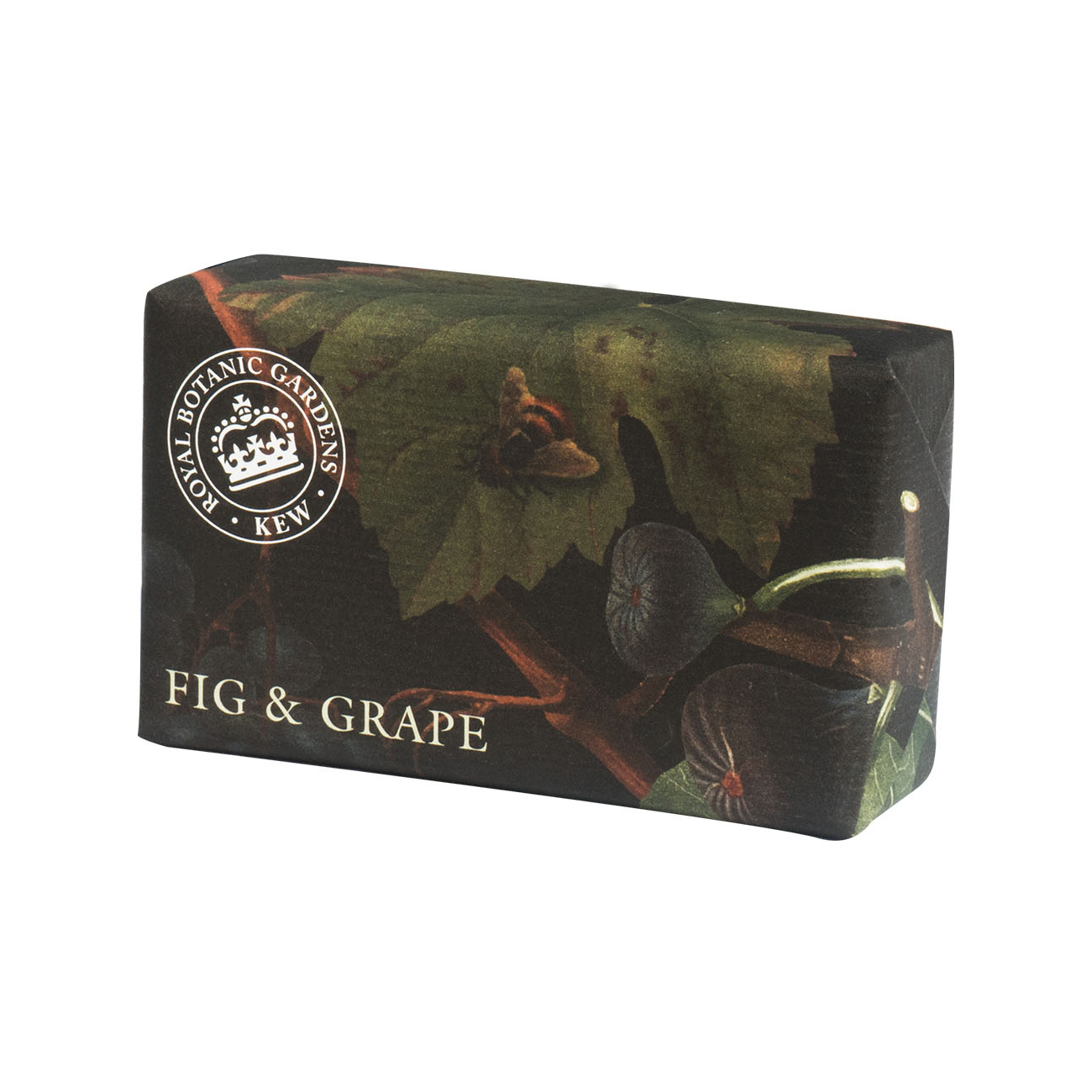 An image of The English Soap Company- Royal Kew Gardens Luxury Soap Range 240g - FIG & GRAPE