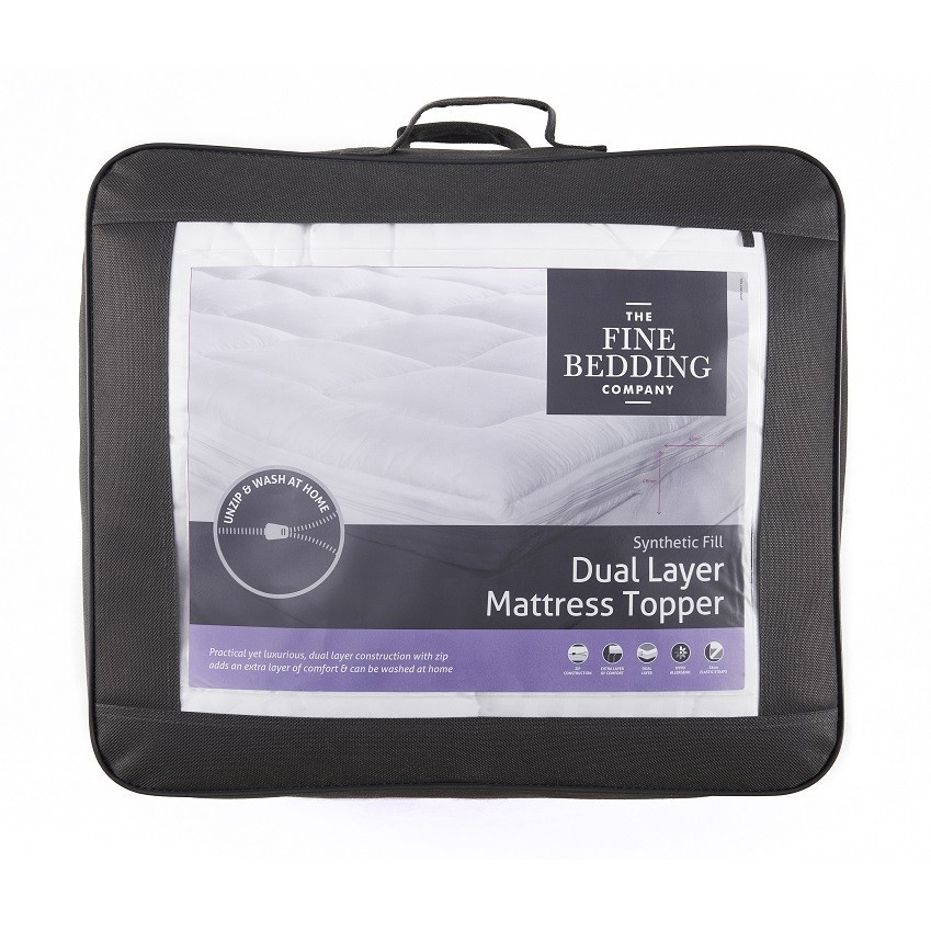An image of Fine Bedding Company Dual Layer Mattress Topper - SINGLE
