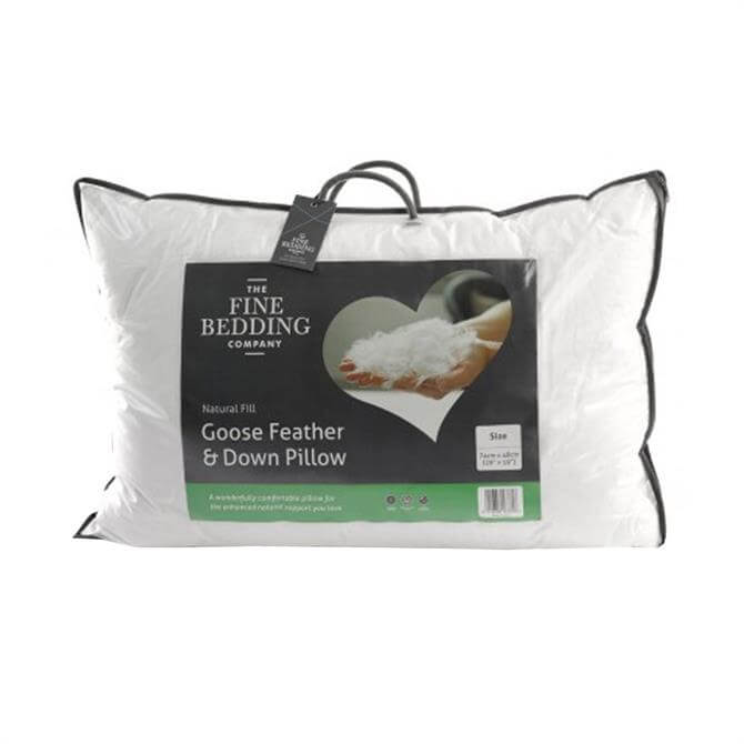 The Fine Bedding Company Goose Feather & Down Pillow