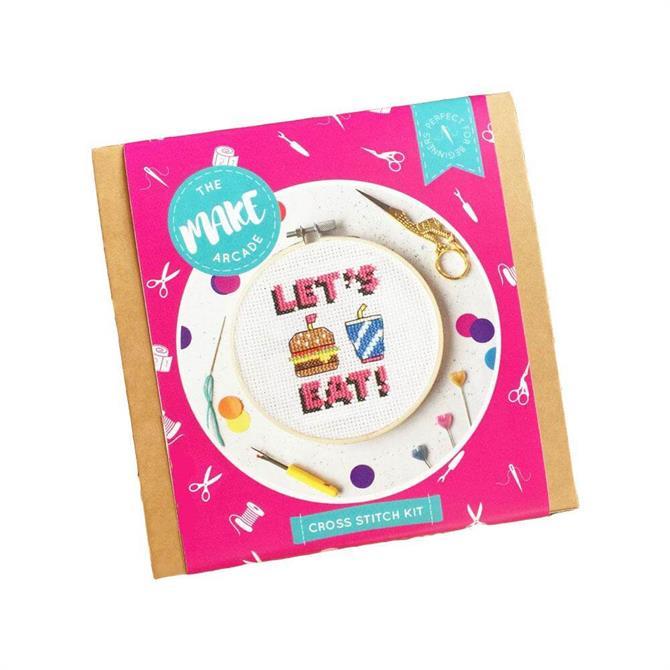 The Make Arcade Let's Eat Cross Stitch Kit