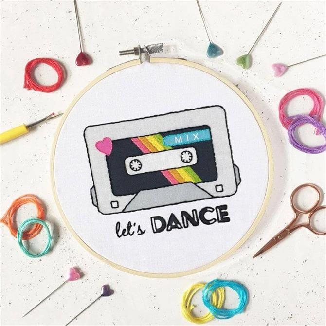 The Make Arcade 'Lets Dance' Embroidery Kit