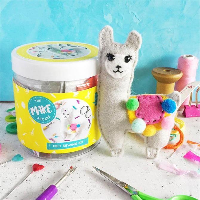 The Make Arcade Llama Felt Sewing Kit