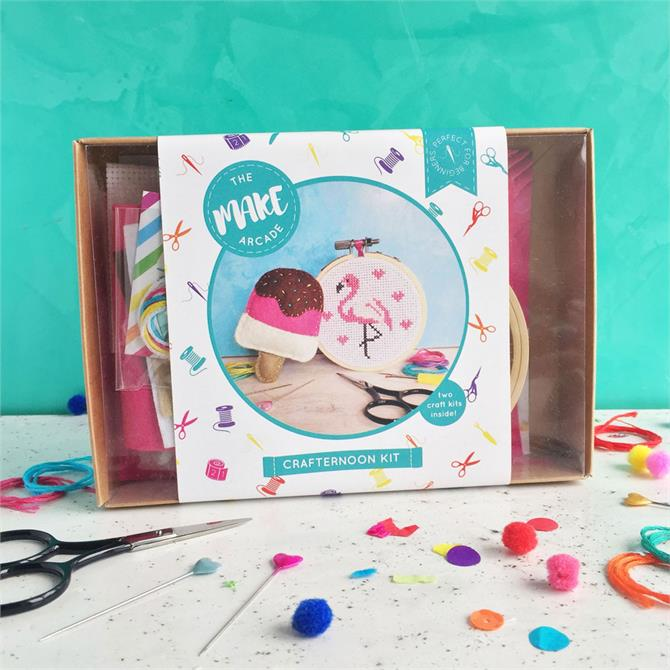 The Make Arcade Flamingo and Lolly Crafternoon Kit