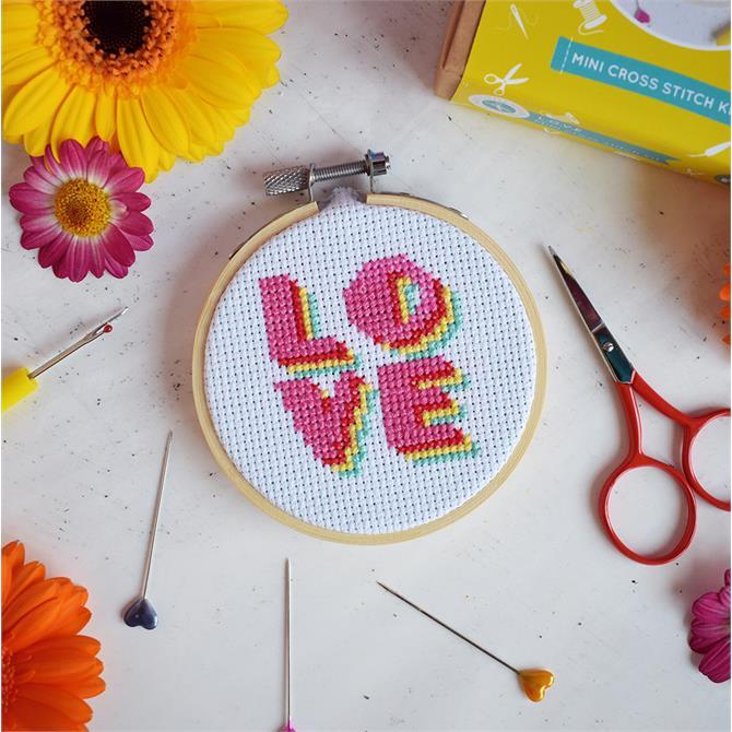 The Make Arcade LOVE Mini Cross Stitch Kit