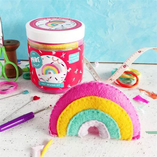 The Make Arcade Rainbow Felt Sewing Kit