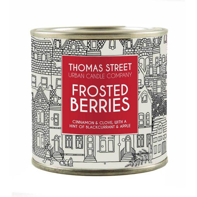 Thomas Street Frosted Berries Lever Lid Tin Candle