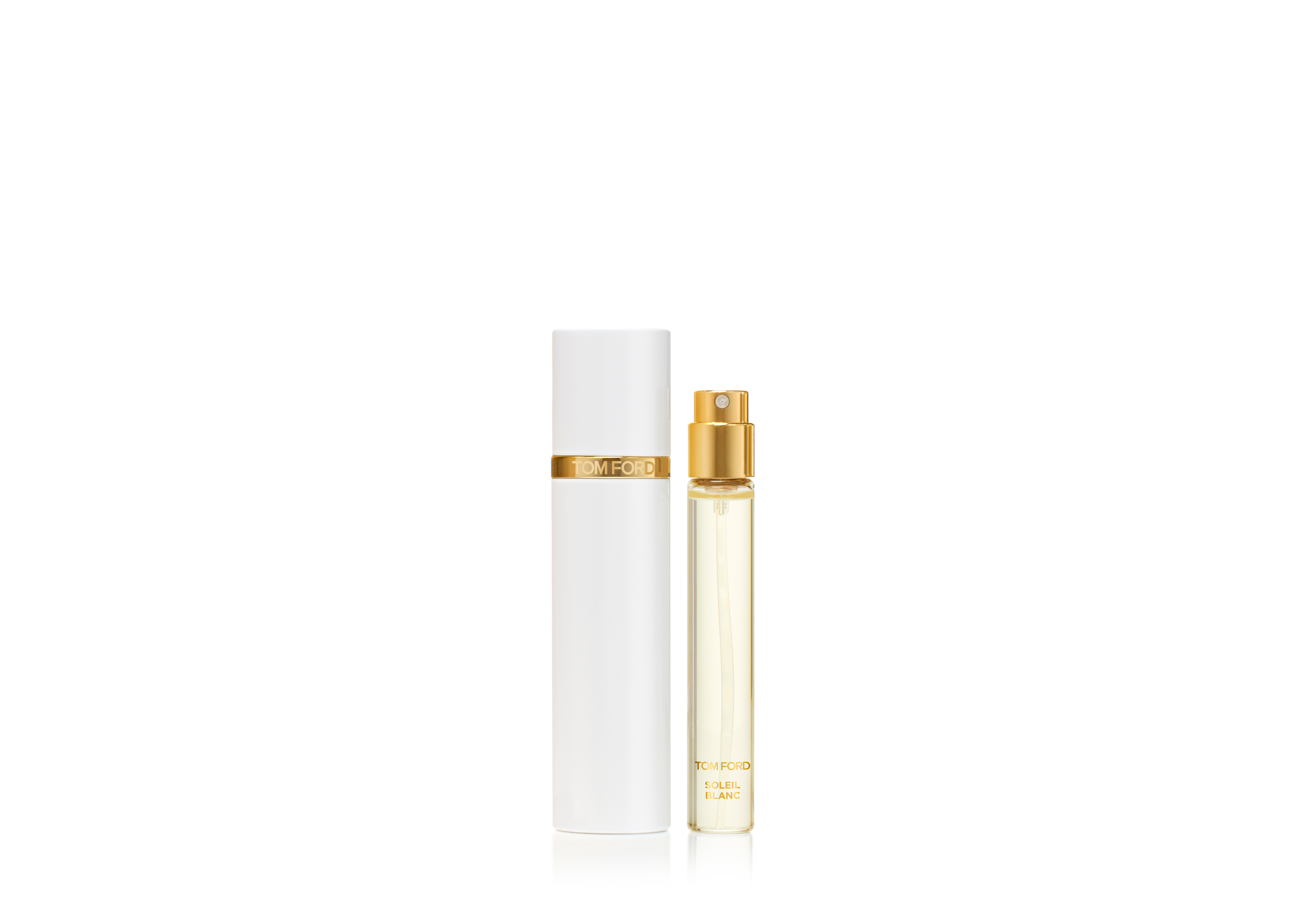 An image of TOM FORD Private Blend Travel Atomizer 10ml - SOLEIL BLANC
