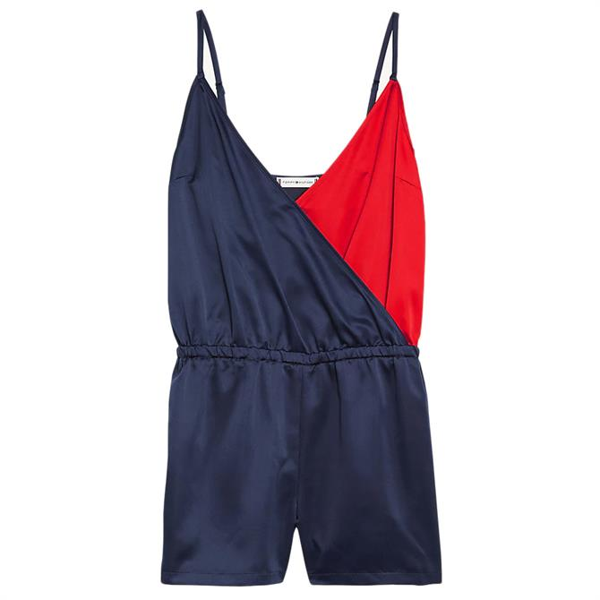 Tommy Hilfiger Colour-Blocked Spaghetti Strap Playsuit