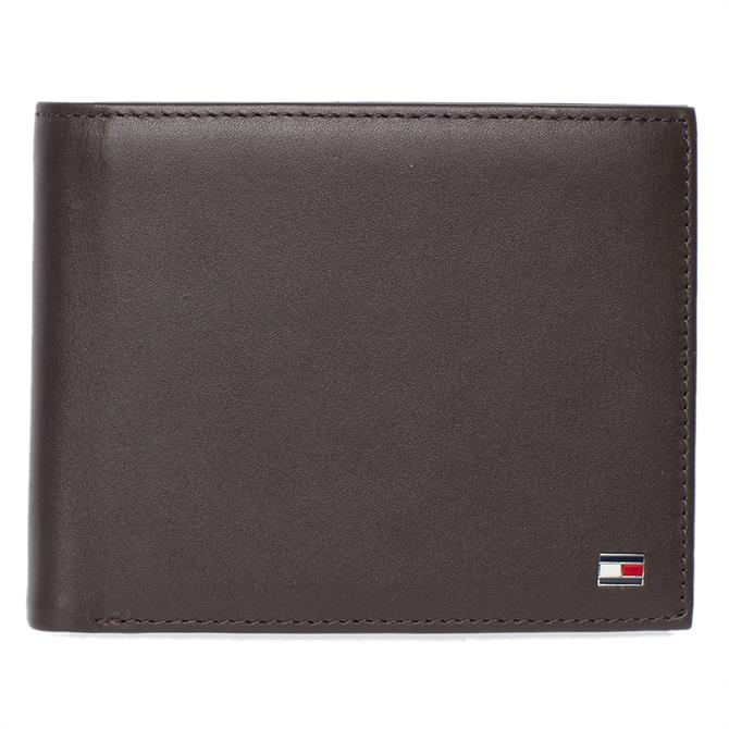 Tommy Hilfiger Bifold Brown Leather Wallet