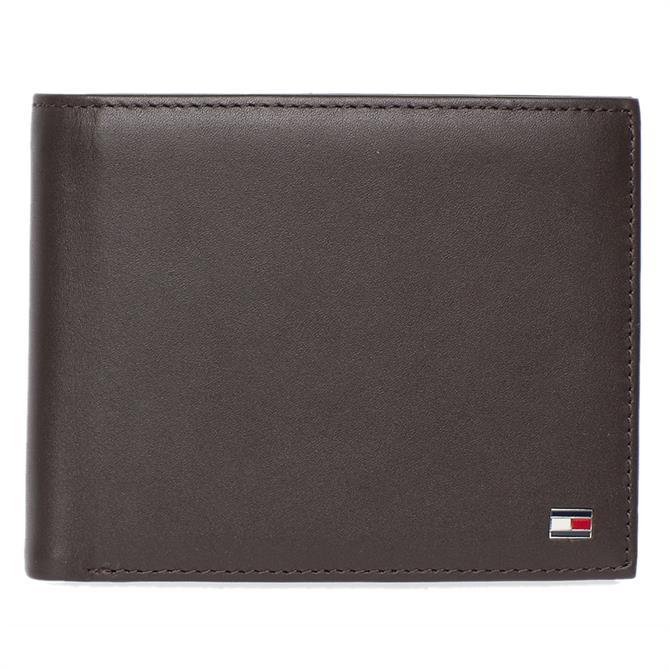 Tommy Hilfiger Bifold Brown Leather Wallet
