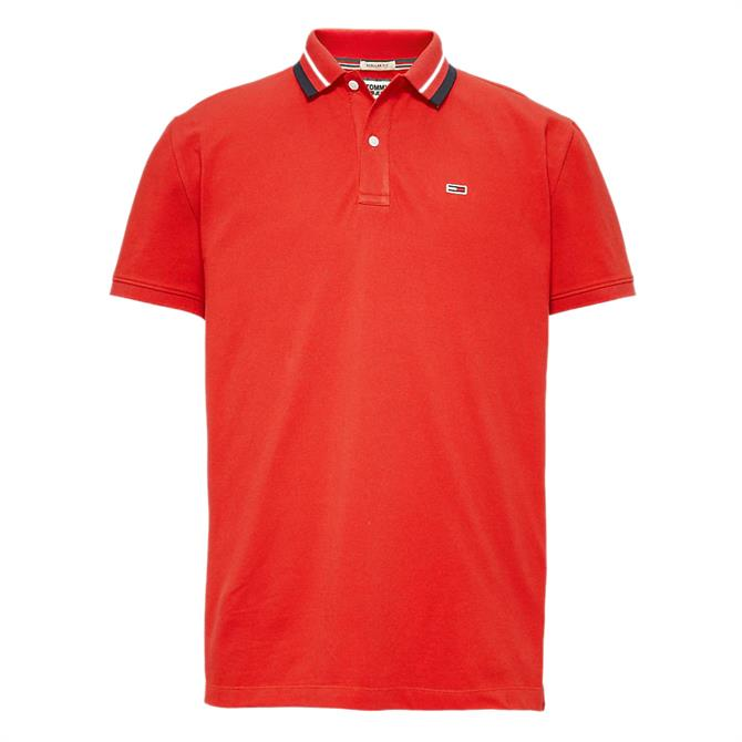 Tommy Jeans Logo Collar Polo Shirt