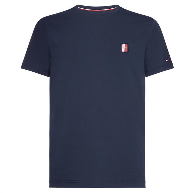 Tommy Hilfiger Monogram Patch Cotton T-Shirt