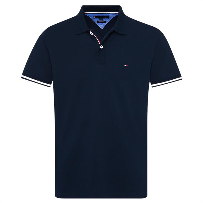 Tommy Hilfiger Pure Cotton Stripe Cuff Polo Shirt