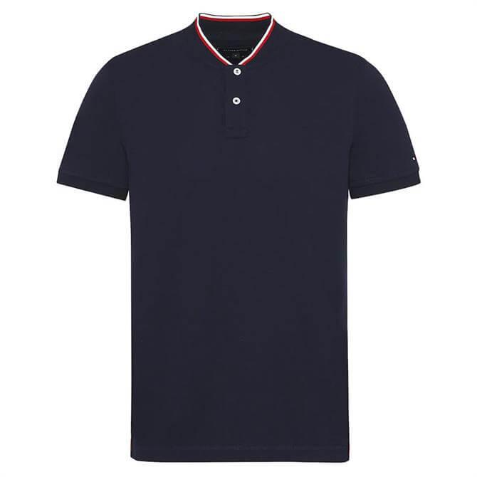 Tommy Hilfiger Baseball Collar Cotton Polo Shirt