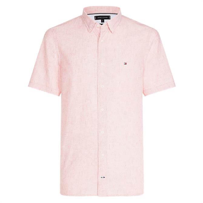 Tommy Hilfiger Linen Blend Short Sleeve Shirt