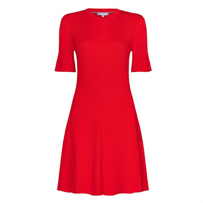 Tommy Hilfiger Organic Cotton Funnel Sleeve Mini Dress