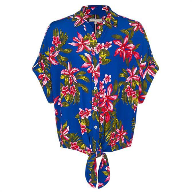 Tommy Hilfiger Esther Tropical Tie Front Shirt