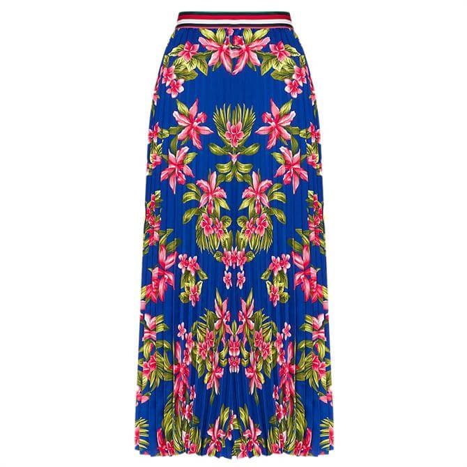 Tommy Hilfiger Erica Tropical Pleated Midi Skirt